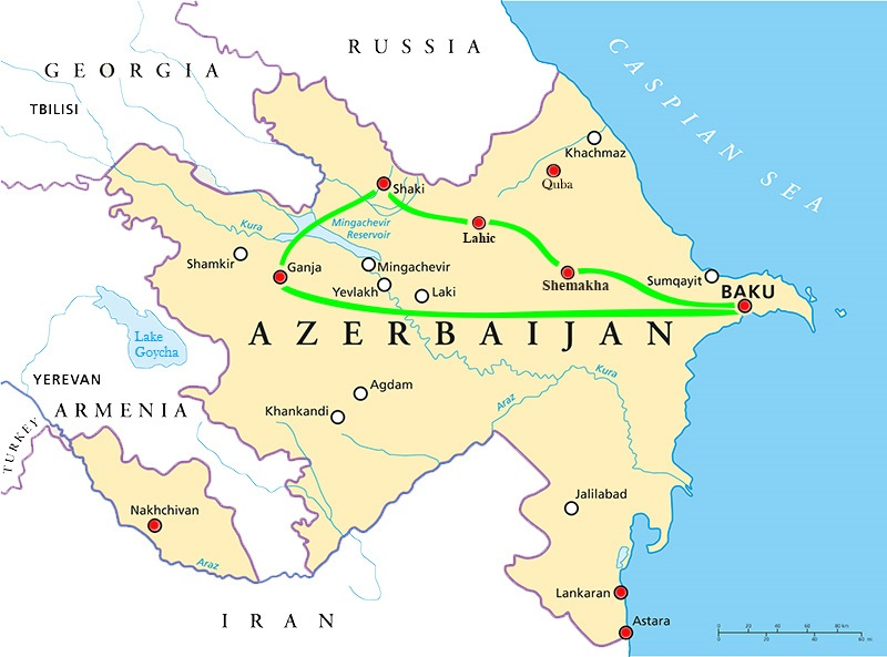 Baku Aserbaidschan Karte.Salam Aserbaidschan Enctours